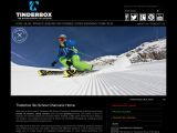 Home page screenshot of Tinderbox Ski School - Chamonix