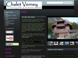 Home page screenshot of Chalet Verney