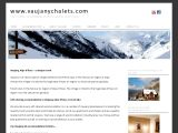 Home page screenshot of Vaujany Chalets