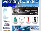 Home page screenshot of wetndryboardsports.com