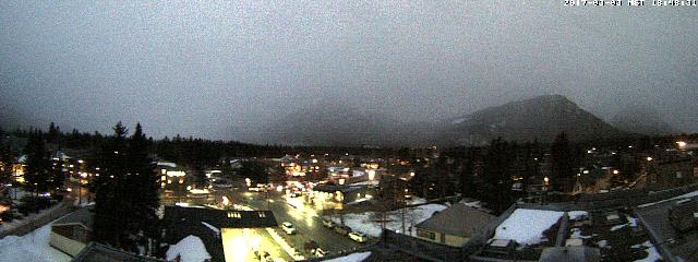 WebCam showing current Snow conditions in Banff