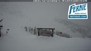 WebCam showing current Snow conditions in Fernie, ©cams.skifernie.com