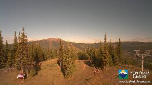WebCam showing current Snow conditions in Sun Peaks, ©Sun Peaks Resort