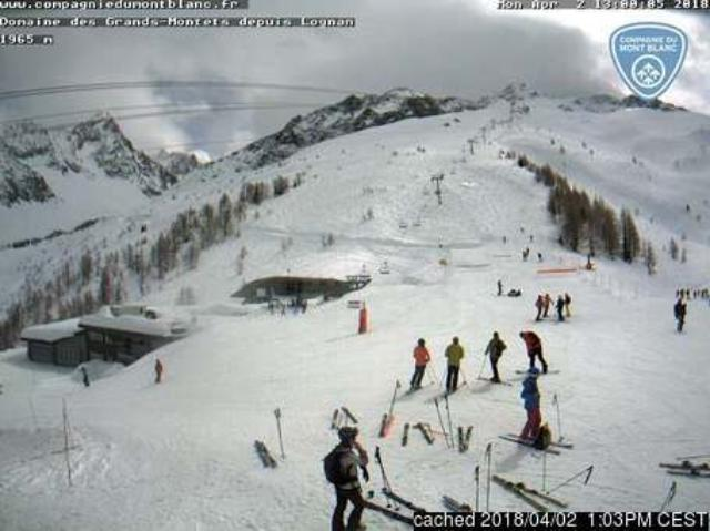 WebCam showing current Snow conditions in Argentière