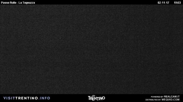 WebCam showing current Snow conditions in Passo Rolle