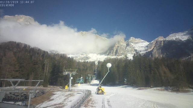 WebCam showing current Snow conditions in San Martino di Castrozza